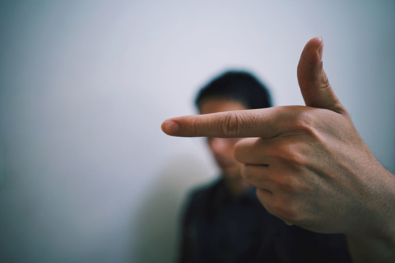 Gesturing Human Hand Human Finger Showing One Person Pointing Focus On Foreground Human Body Part Real People Rudeness Men Communication Close-up Day Indoors  Thumbs Up People EyeEmNewHere