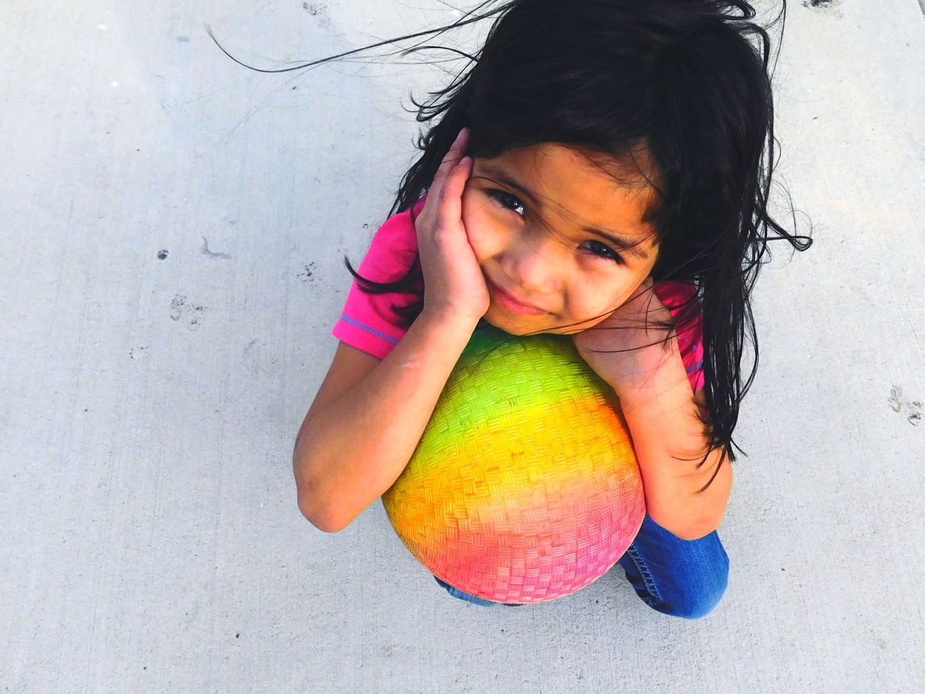 Child Childhood One Person Multi Colored Close-up Front View Outdoors Day Blurry On Purpose Pink Color Little Girl Big Moments Windy Bella Mexican Girl 5yearsold Model Playful