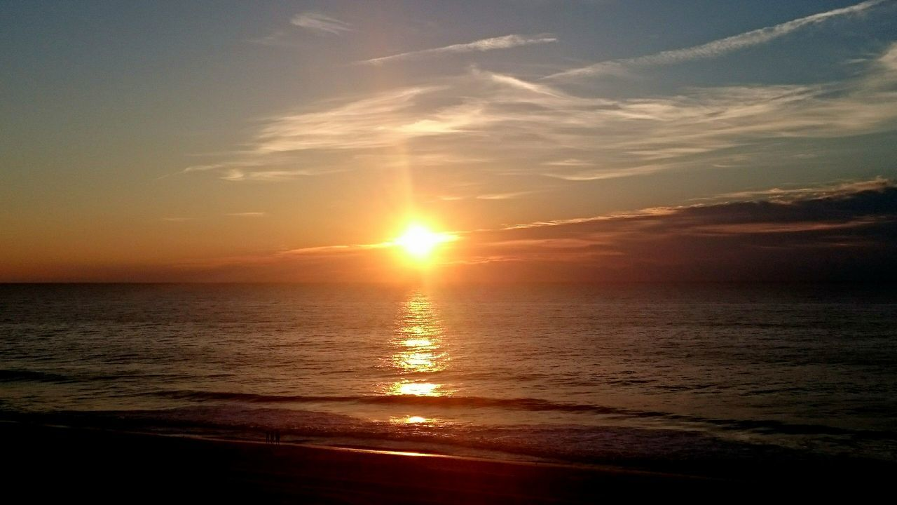 An ocean sunset is always a good thing. EyeEmNewHere Sunset Oceanside Ocean City Md
