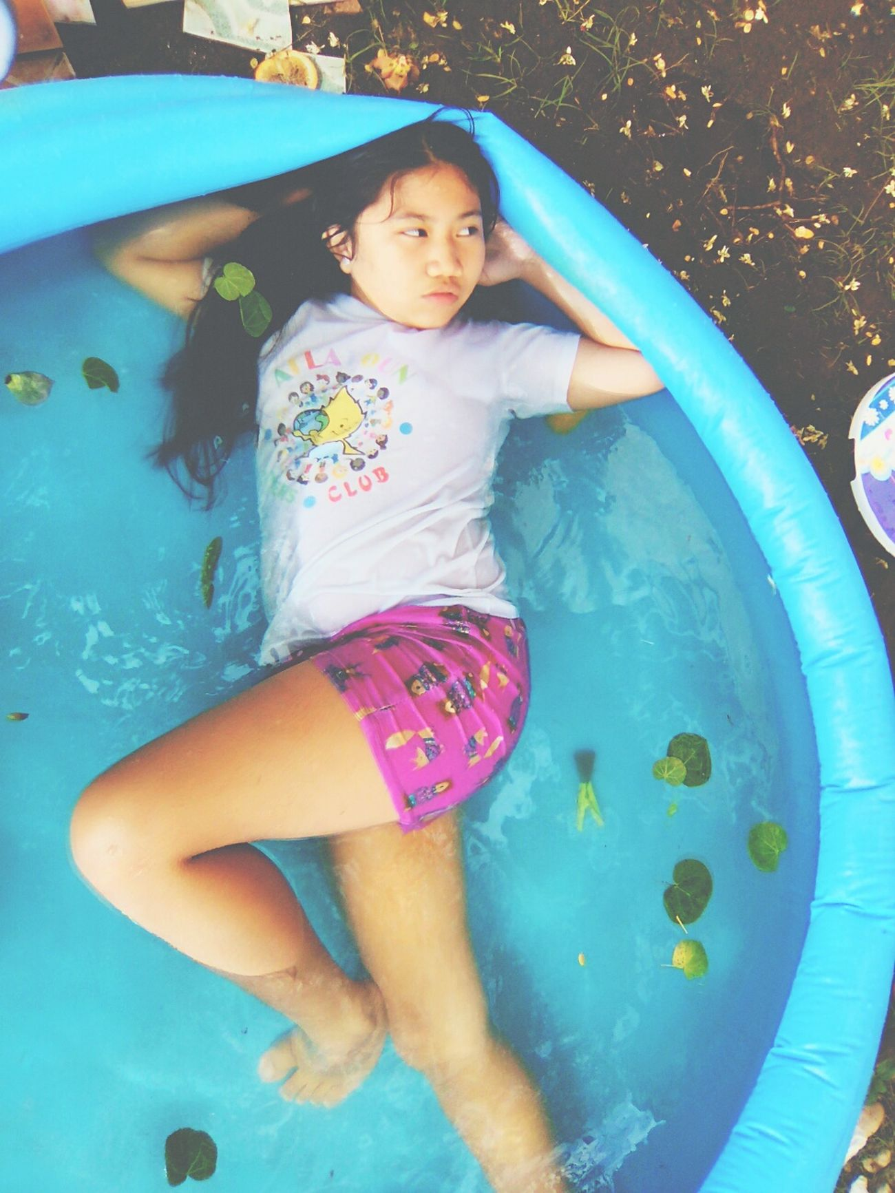 Coz we're bored at the pool Water Swimming Inflatable Pool Babes Baby Niece  Swim Model Pose Modeling Model Photography Modelgirl Pose Outdoors Summer Wet