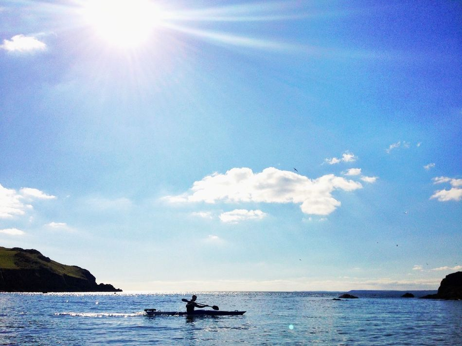 Kayaking Ocean Beachphotography Silhouette Summer Devon Hope Cove
