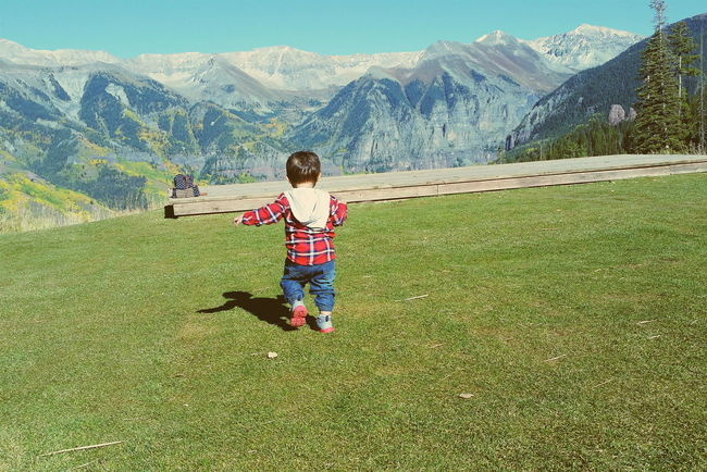 Hanging Out Taking Photos Check This Out Telluride Colorado Fall Mountains Toddler