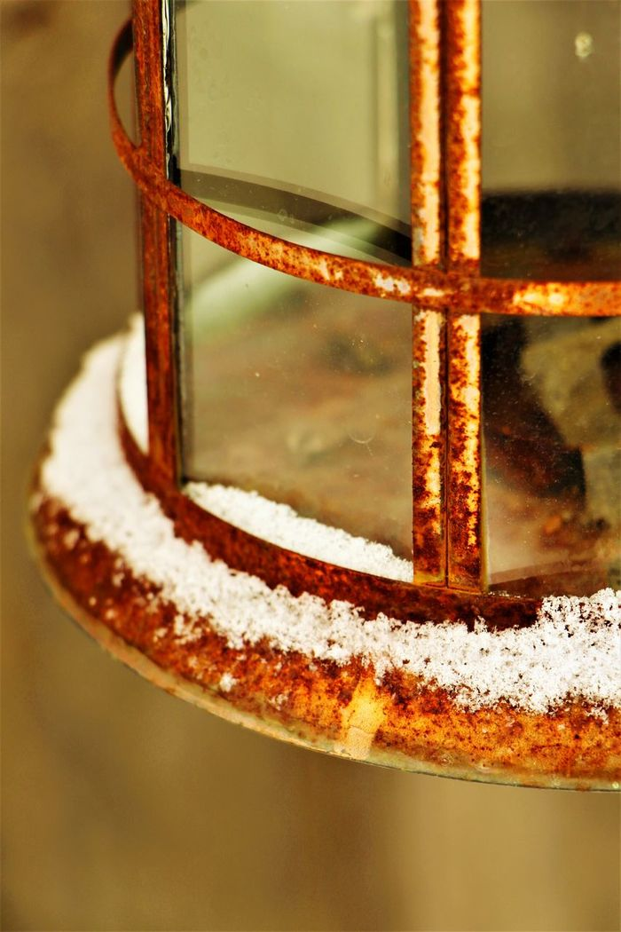 Rustic lantern closeup Close-up Winter Outdoors Rusted Metal  Day Rusted Metal  Rusted Bronze Rustic Antique EyeEm Gallery EyeEm EyeEm Best Shots EyeEmBestPics EyeEmNewHere Art Birdhouse Yard Decor Yard Decorations Decoration Lantern Cold Outside Winter Snow