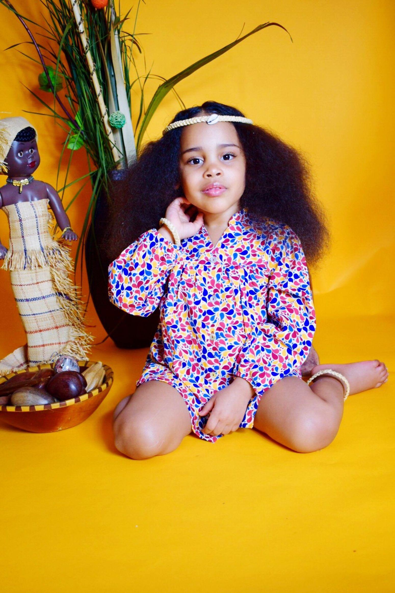 Anina Gabon (null)Childhood Girls Indoors  Portrait Looking At Camera Studio Shot Lifestyles Mixedchild Childmodel