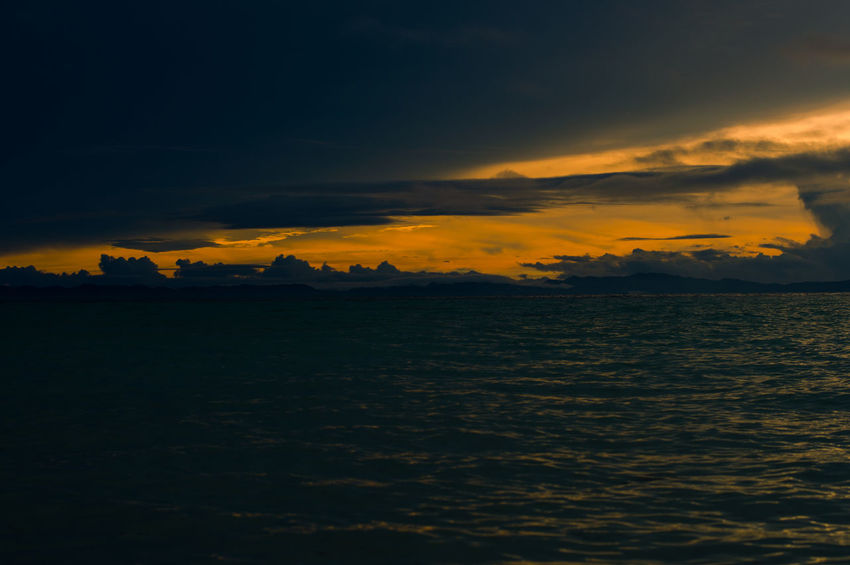 Golden Hour Beach Beauty In Nature Beauty In Nature Cloud - Sky Clouds And Sky Day Idyllic Landscape Nature No People Outdoors Scenics Sea Sky Sun Sunset Tranquil Scene Tranquility Water