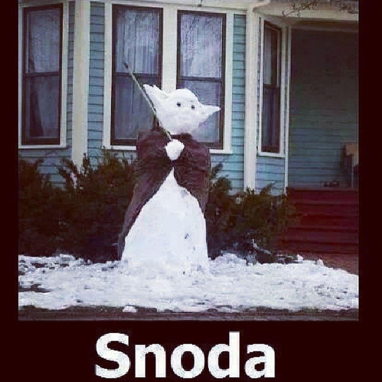 Snowman Snoda Yoda Starwars