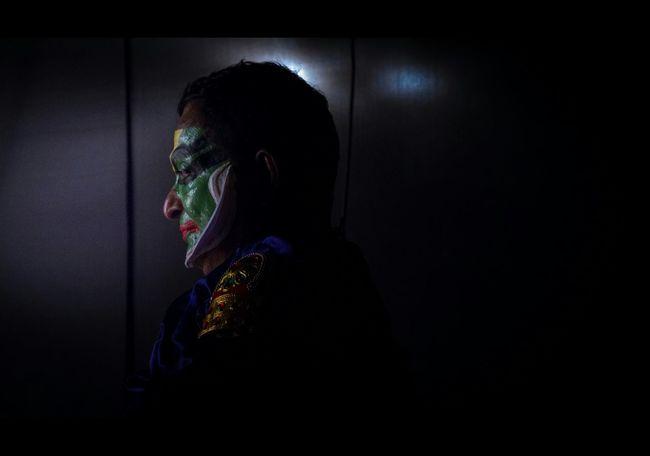 Kathakali Kathakali Performer People Kerala Dark Cultures Makeup Performer  Traditional Culture Green Room