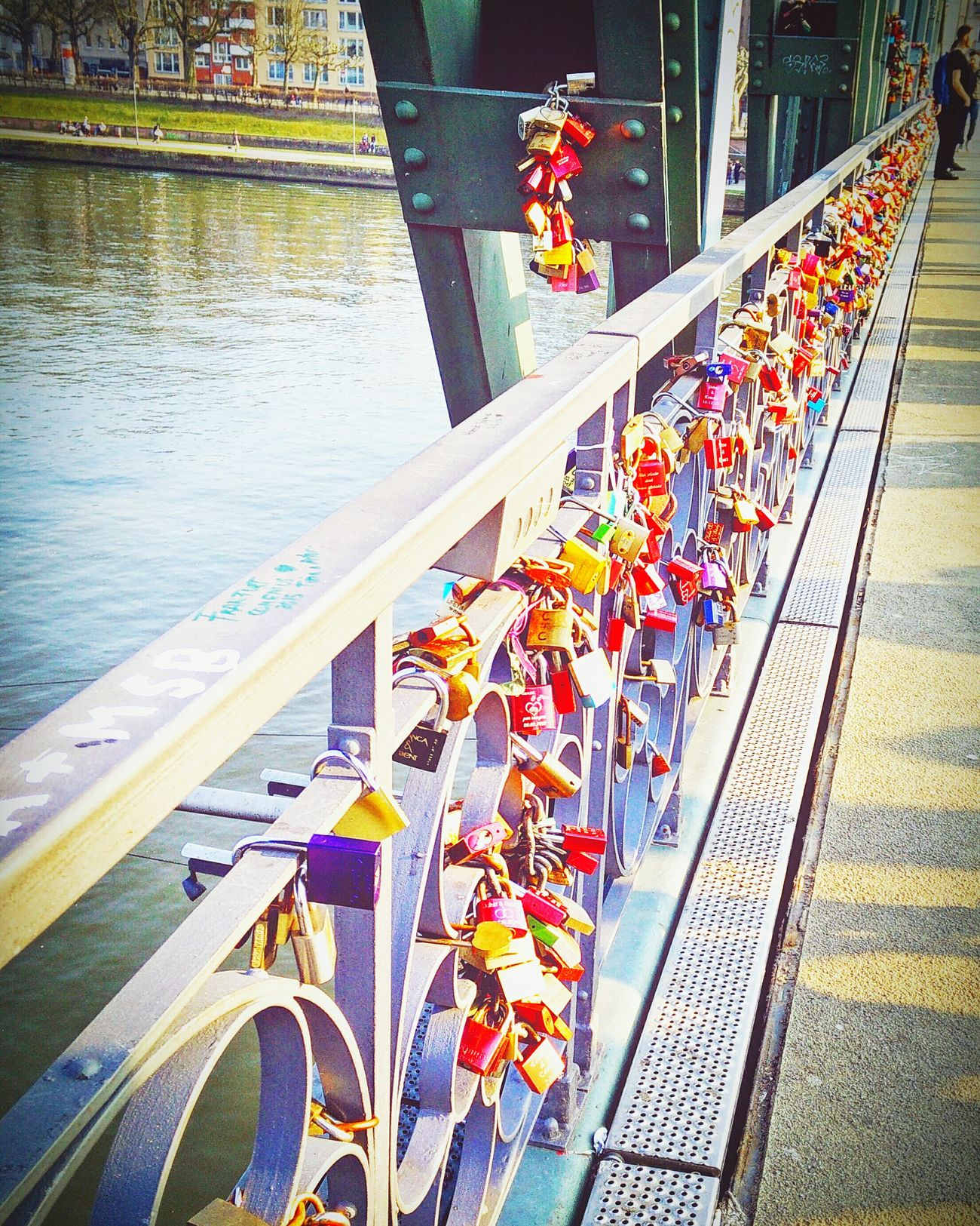 Photography In Motion Center Focus Frankfurt Love Locks Bridge