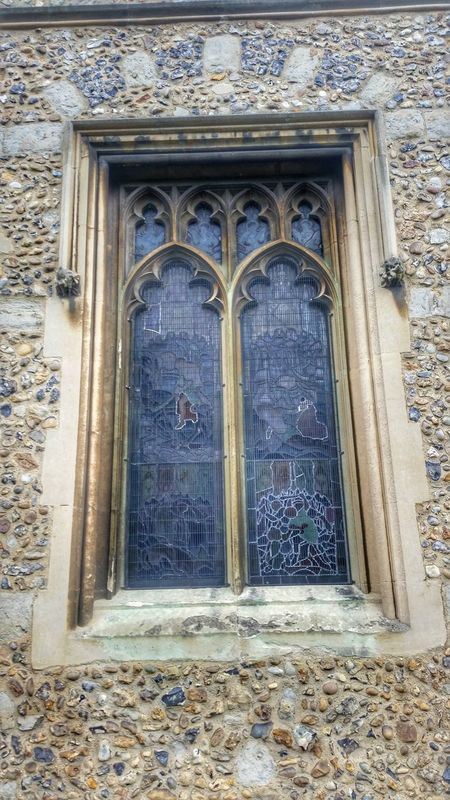 Medieval Architecture Arches Stone Architectural Detail Chelmsford Cathedral Stone Wall Gothic Arches Flint Leaded Glass Leaded Windows Quoins