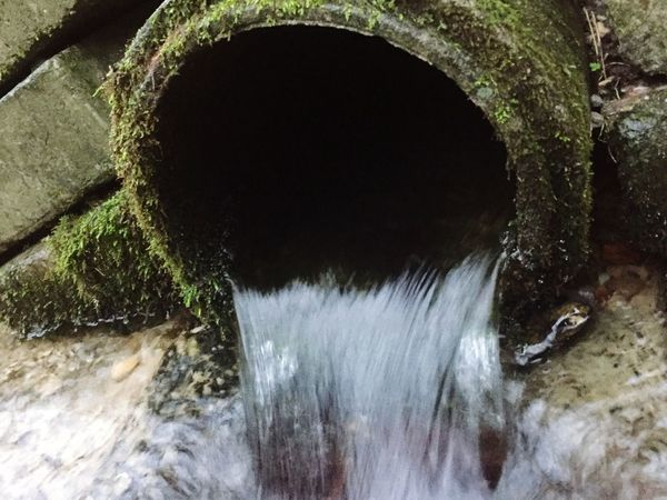 Dalby Forest End Of The Tunnel Flowing Water