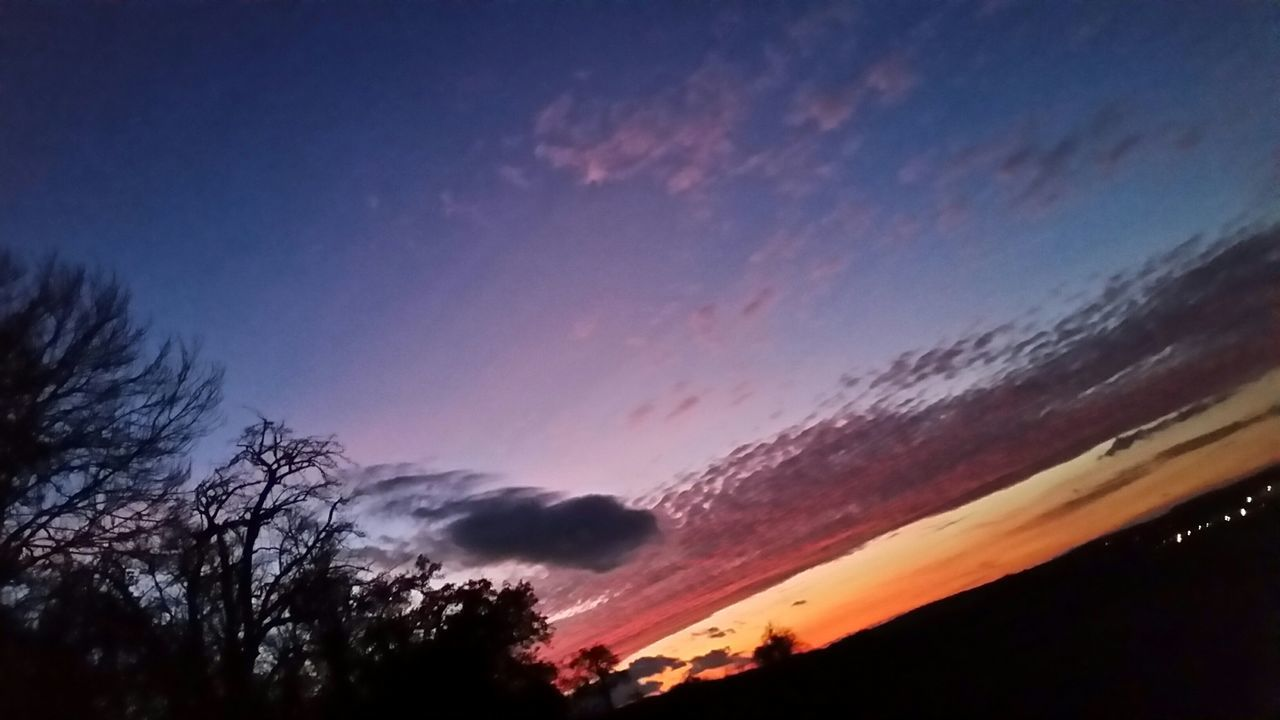 sunset, silhouette, beauty in nature, nature, sky, tranquil scene, scenics, tranquility, no people, outdoors, tree, cloud - sky, day