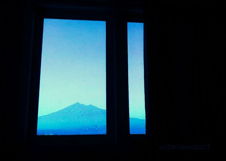 beautiful Merbabu mountain this morning... Blue Window Silhouette Clear Sky Sky No People Landscape Tranquil Scene Mountain Day Nature EyeEm Gallery Octavianuspict High Angle View Lenovoa6000 PhonePhotography Eyeemindonesia Indonesia_photography EyeEm Best Shots - Nature Morning Morning Sky Morningshoot