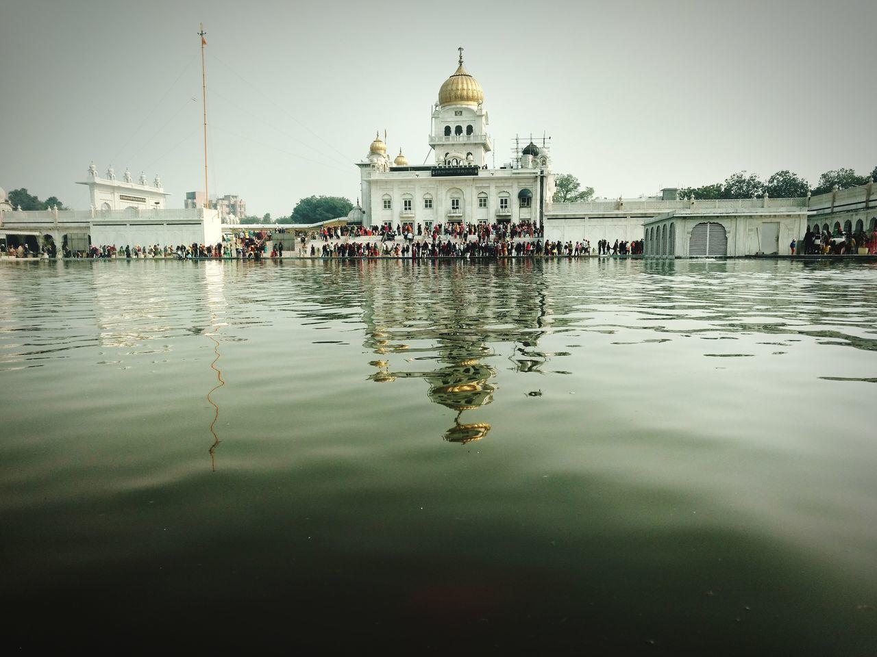 Reflection Place Of Worship Outdoors Day Baba Sahib Gurudwara