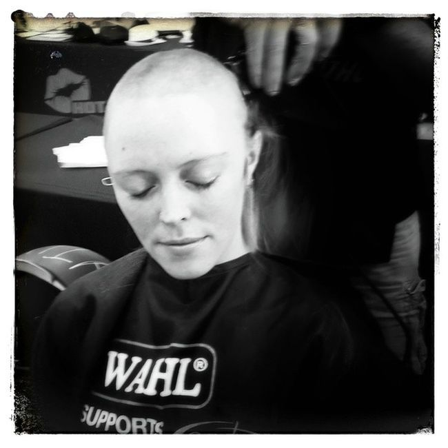 So proud of @NukuNukuDash who donated her ponytail AND shaved her head for Cansa Shaveathon today... Shaveathon Doinggood Nohair Beauty beautiful blackandwhite portrait