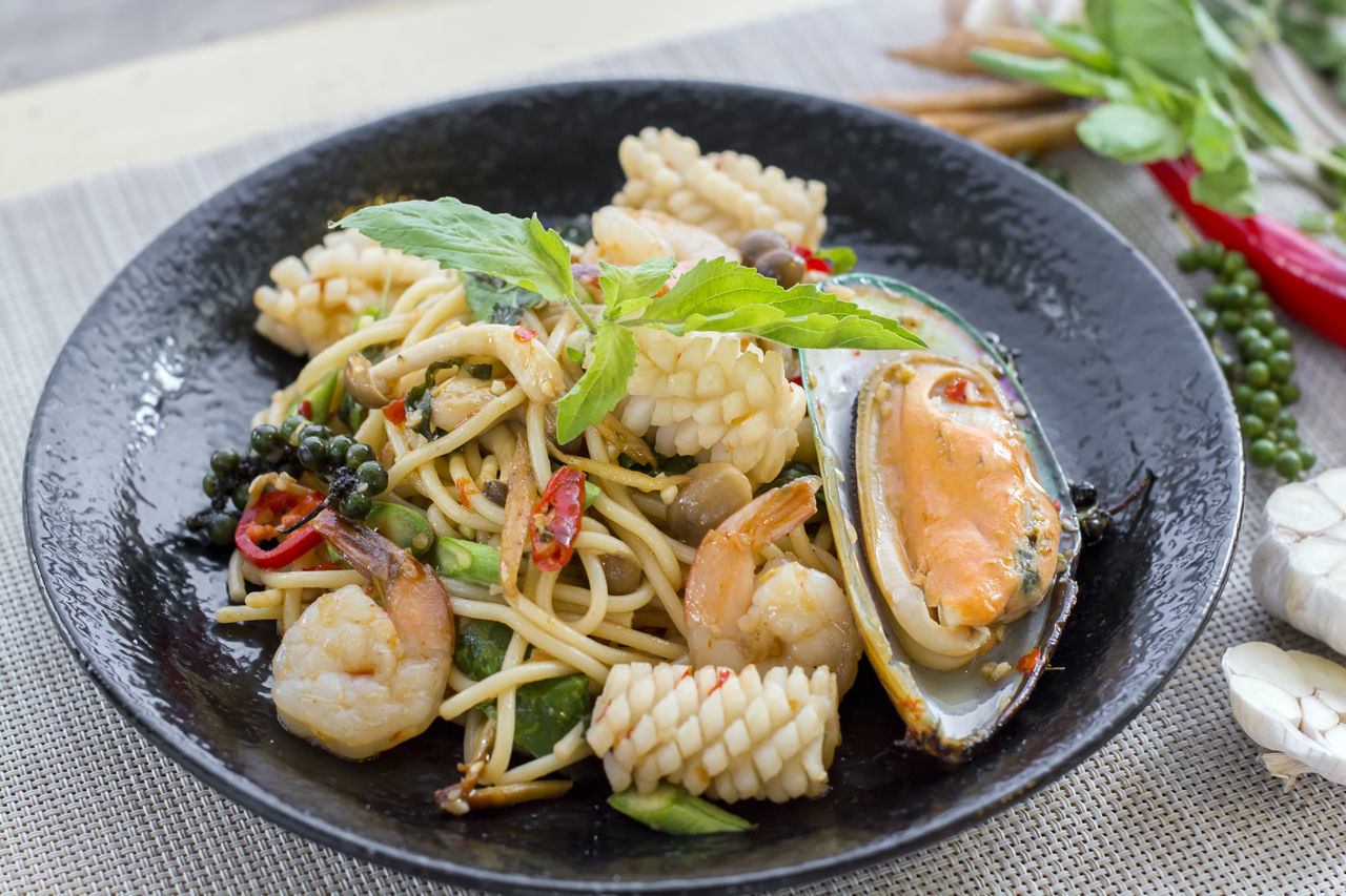 Chilli Close-up Drunken Food Food And Drink Freshness Healthy Eating Mussel Pasta Seafood Seafood Spaghetti Spice Spicy Taste