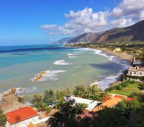 Tyrrhenian Sea Capo D'Orlando Sicilia Beach No People Tranquility Cloud - Sky Beach Life Beach Photography Italia Private Beach 🌊 30 degrees cel ☀️🐝🌊 never seen the sea in 3 shades of blue❤️