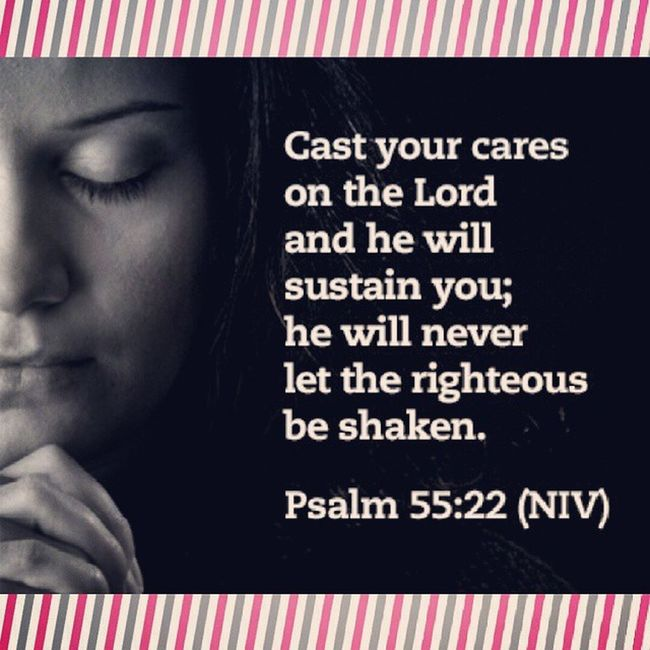 I surrender.. take over God. 08302014 Reminder 👍💖💕☺😊😄🙏📖 Psalm 55:22 Turn your worries over to the Lord. He will keep you going. He will never let godly people fall.