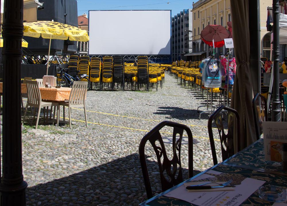 Locarno Film Festival Piazza Grande Framed Restaurants Sunny Day Festival Season The City Light