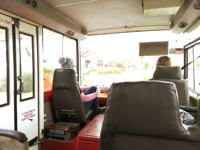 Driving Roadtrip Bus