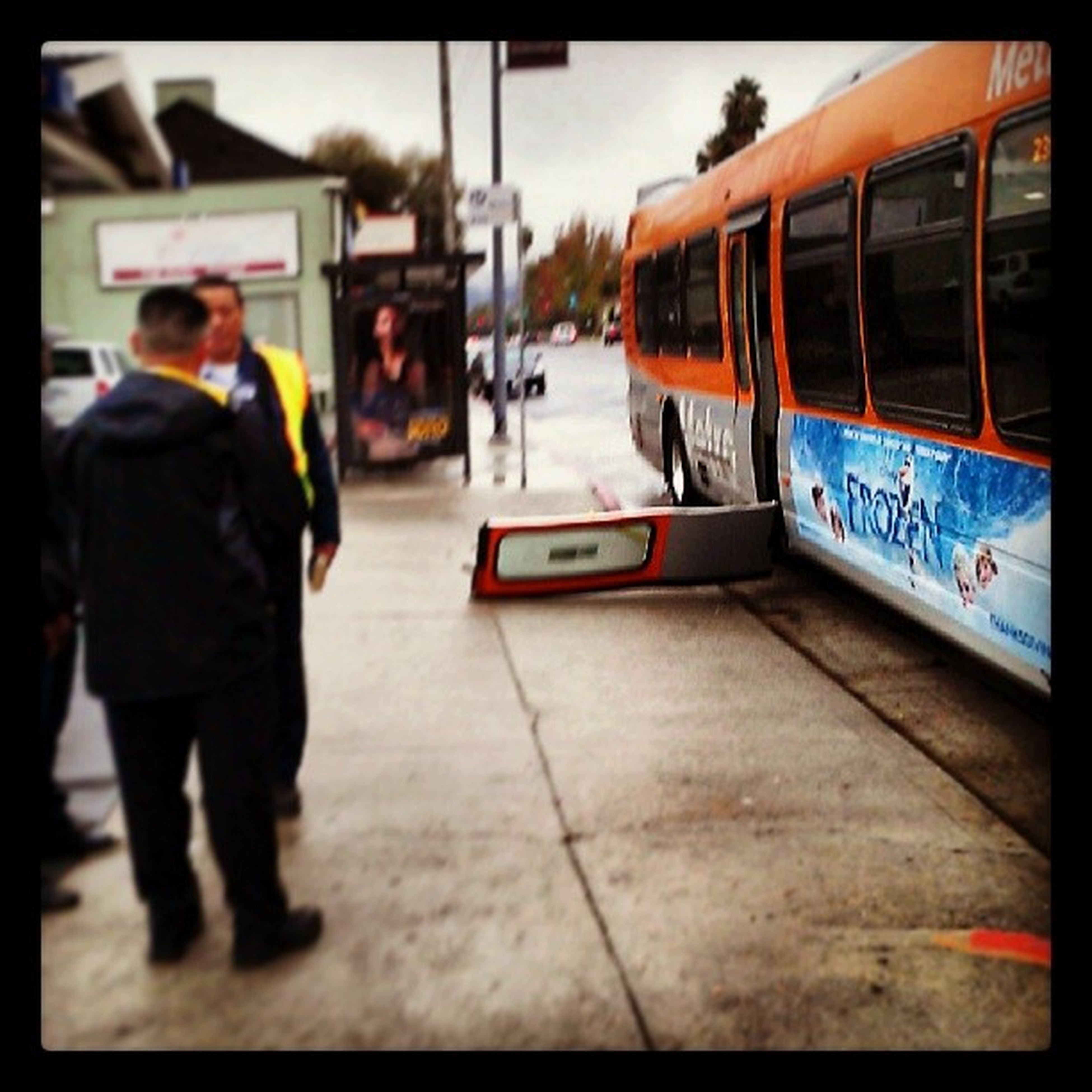 Either the bus driver was holding somebody hostage, or somebody had an epiphany about public transit.