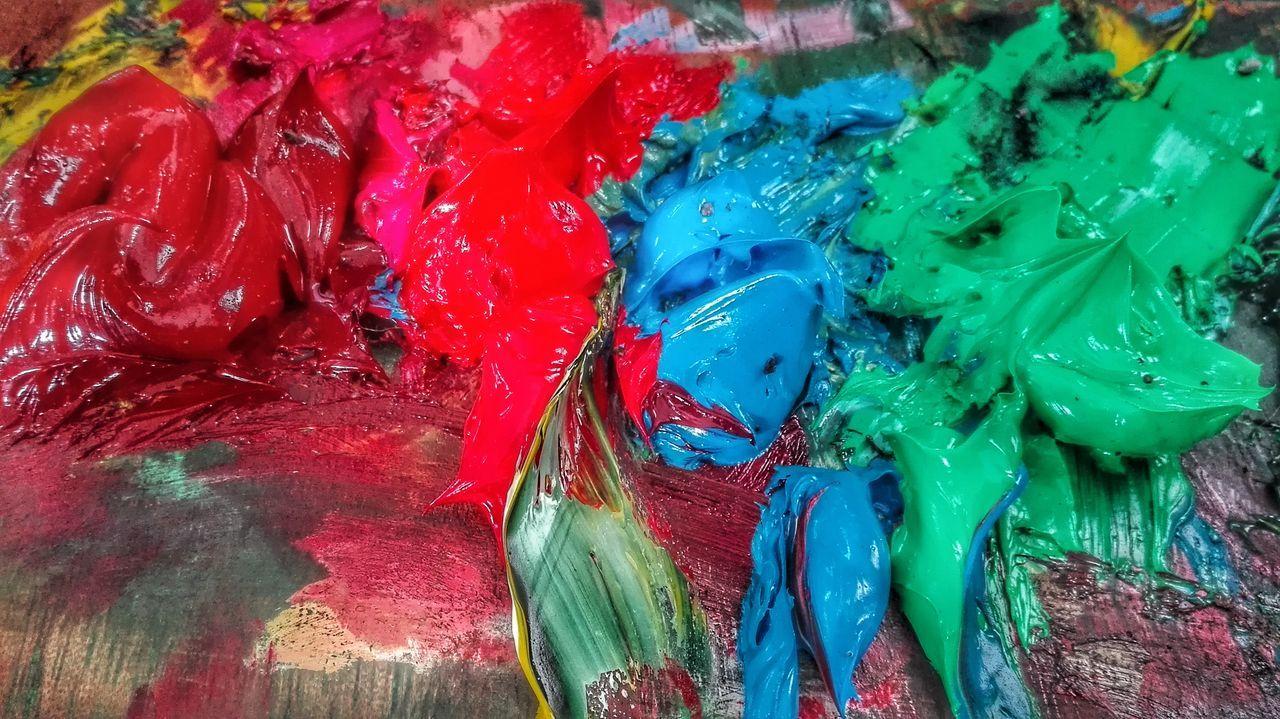 Pintura del Dia Multi Colored óleo