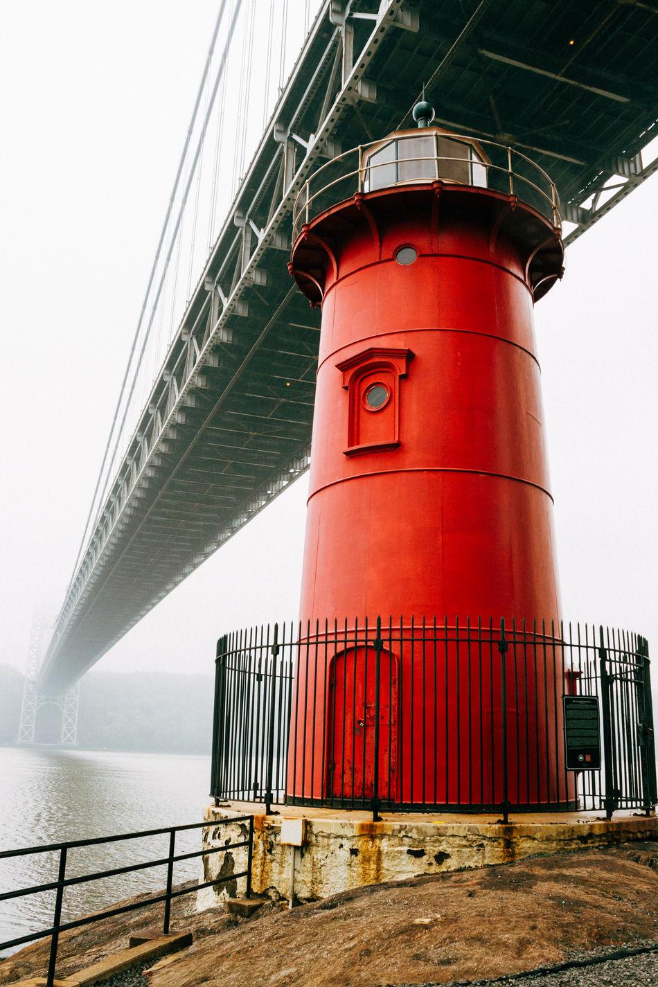 The Little Red Lighthouse under the George Washington Bridge. Hidden Gems  NYC Photography Washington Heights Fort Washingtion Park