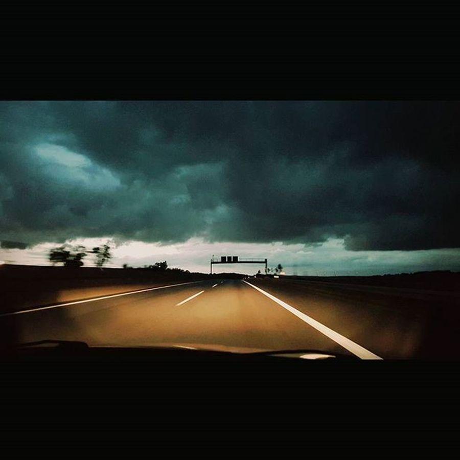 Roadtrip September 2015  Photooftheday Ilovephotography NiceShot Germanys Route66 A7 Autobahn Hessen Clouds Dunklewolken Sky Street Vollgas Streifenamhorizont Horizon Moveforward Unterwegsindeutschland Unterwegsmitfreunden Bestfriends Travelaroundgermany Frankfurtammain