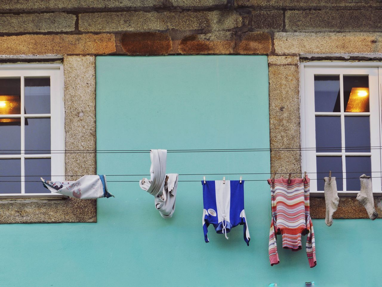 Hanging Architecture Building Exterior Clothing Hanging Out Streetphotography Street Photography WeekOnEyeEm EyeEmNewHere Art Is Everywhere Drying Architecture_collection Minimalist Minimalism Fine Art Photography Colorful Buildings Windows_aroundtheworld Place Of Heart Colorsplash Oporto, Portugal
