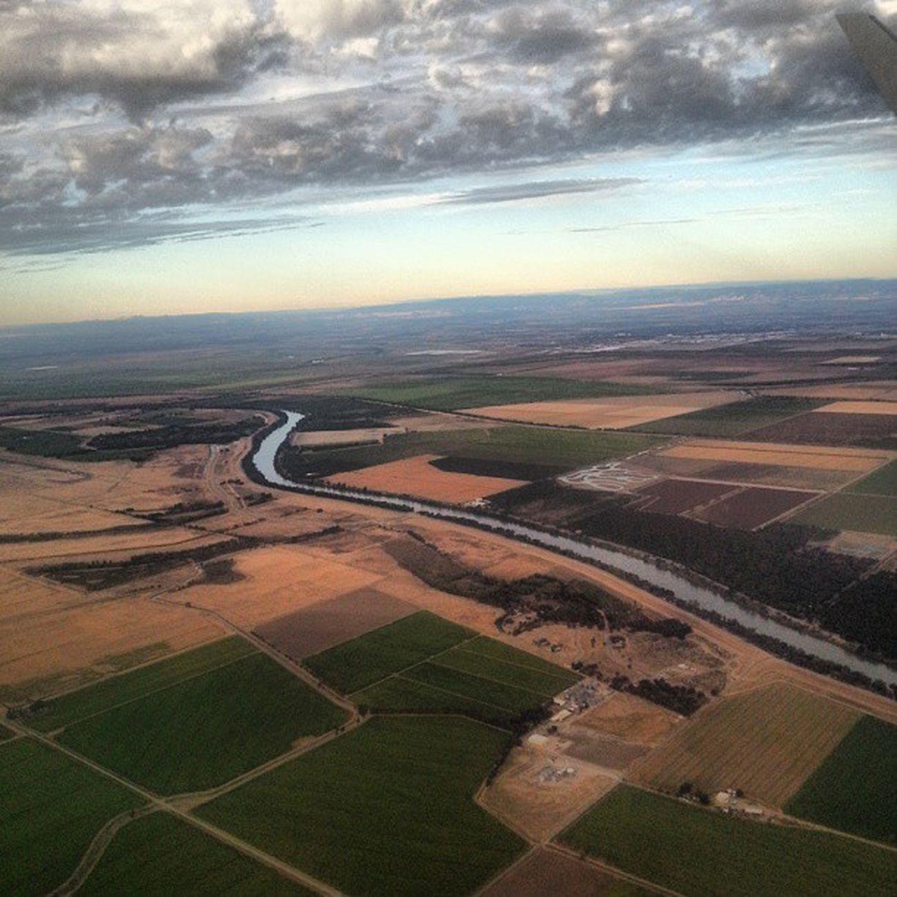 Sacramento Sacramentoairport Sactown Arialview airplanes clouds rivers farmland peaceout