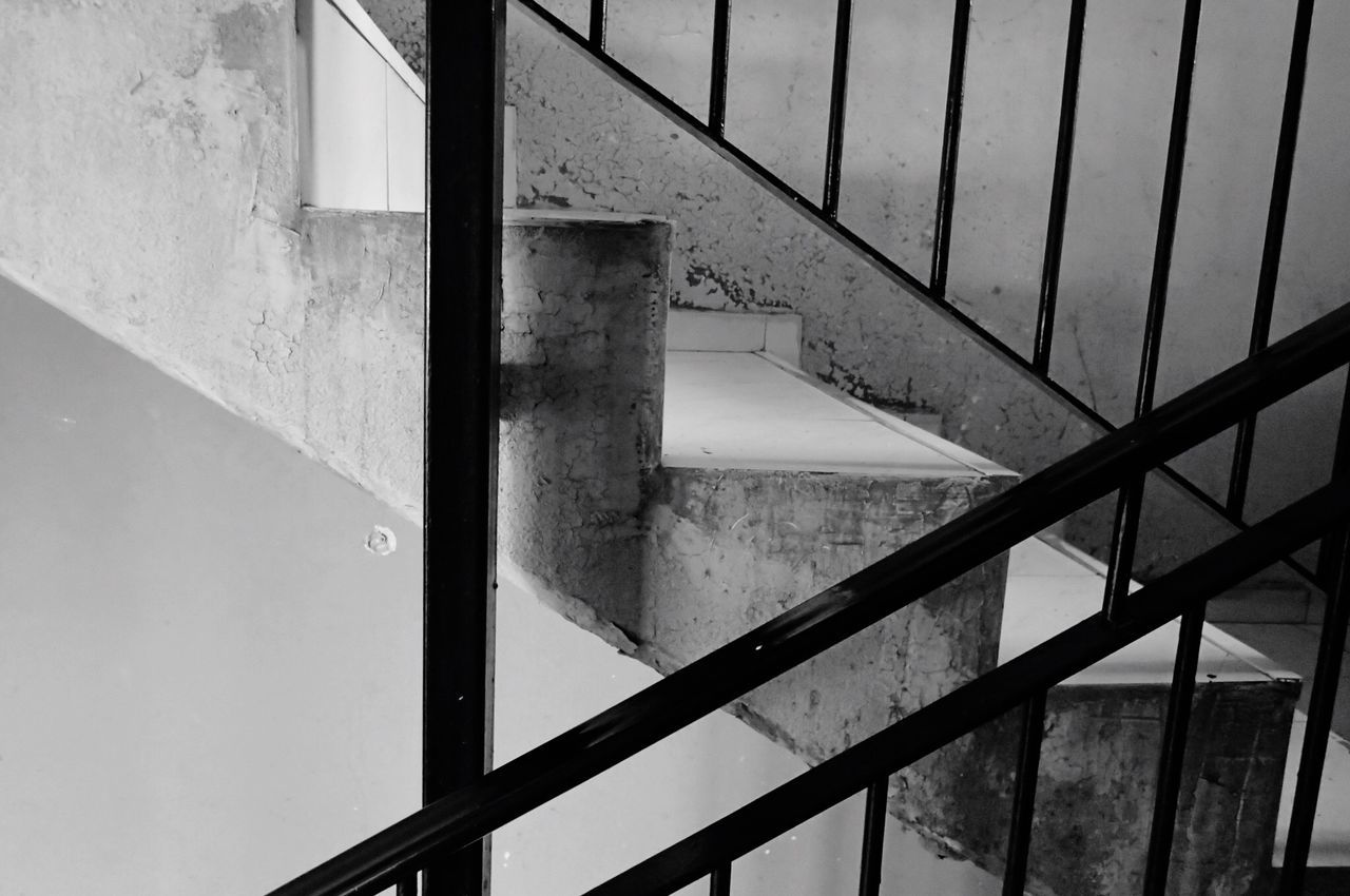 railing, steps and staircases, staircase, architecture, built structure, no people, day, steps, indoors, close-up, hand rail