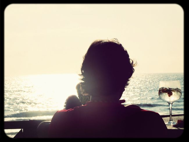 Watching the Sun and have a Drink.. :-) Relax... Shadows & Lights Last Drink, I Promise Eye For Photography My Photos ♥