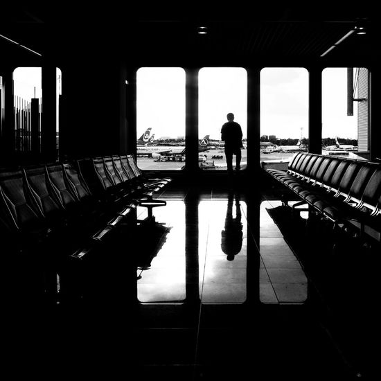 Waiting for the flight Adult Adults Only Architecture City Day Indoors  Men One Man Only One Person Only Men People Silhouette