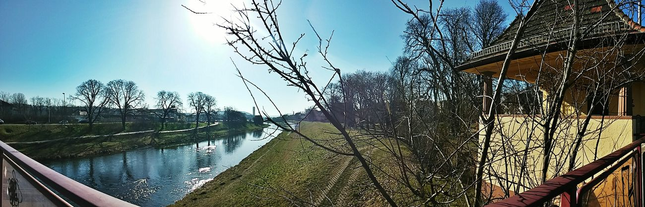 Weisse Elster Gera Panorama My Daily Commute Smart Simplicity Suntime Sunny Day Springtime