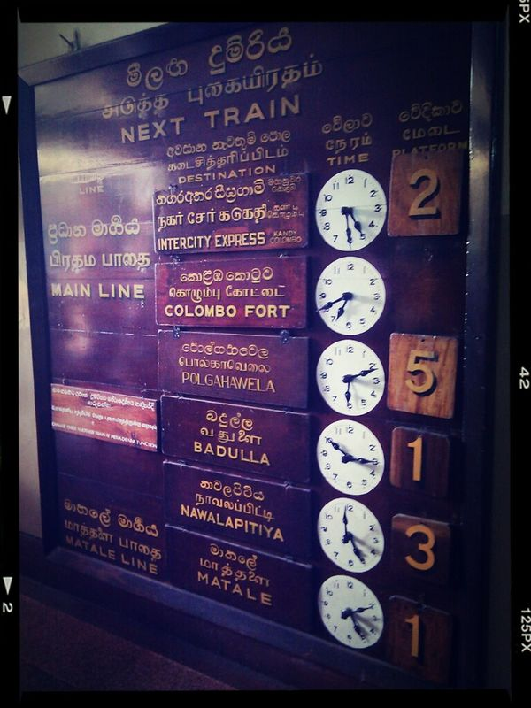 All aboard Sri Lanka Trainstation Southasia Kandy Traveling