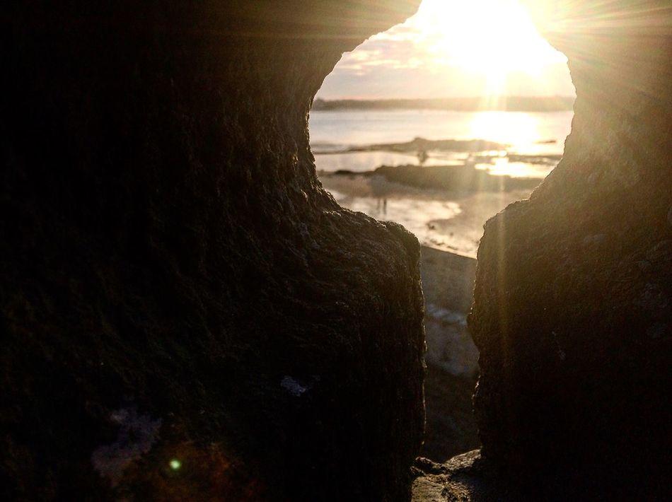 17:37 Photography Nikonphotography Nofilter Sunlight Sunset Sun Sky Sea Horizon Over Water Landscape Bretagnetourisme