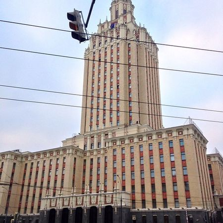 The hotel I stayed in was canny ?? Hilton Leningradskaya Russia Moscow