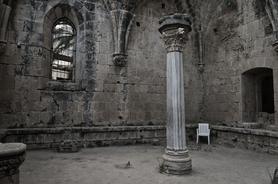 Bellapais Bellapais Monastery Ruins Ancient Arch Architectural Column Architecture Built Structure History Indoors  No People Place Of Worship Religion Spirituality Cyprus North Cyprus