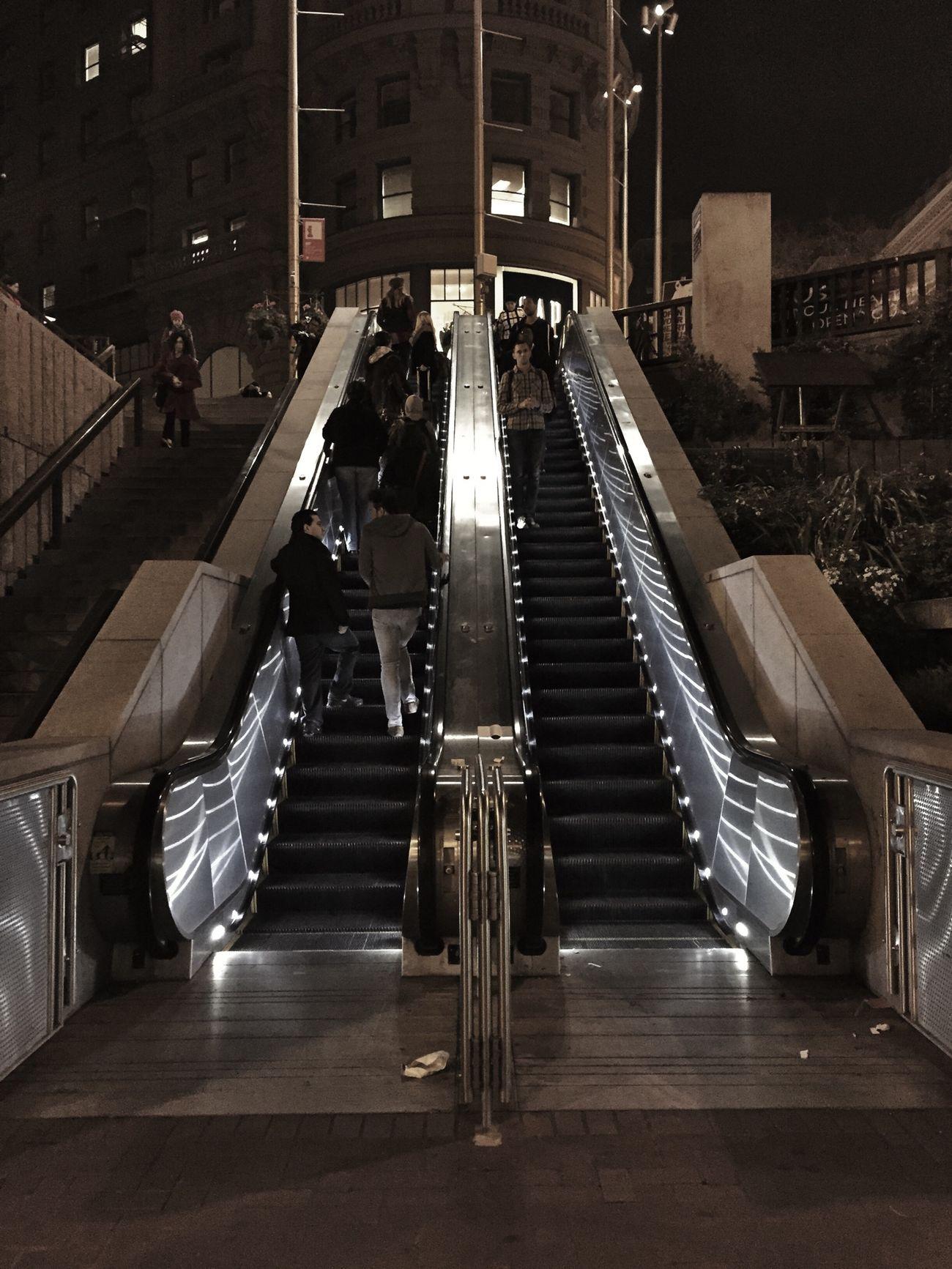 Escalator Perspective Lookingup