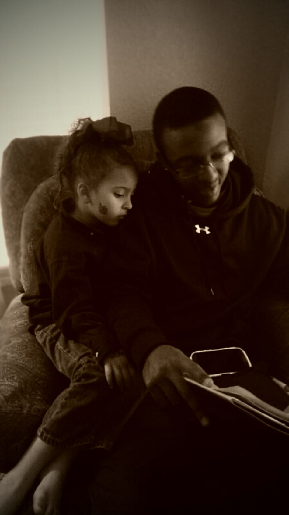 Uncle and Niece time! Relaxing