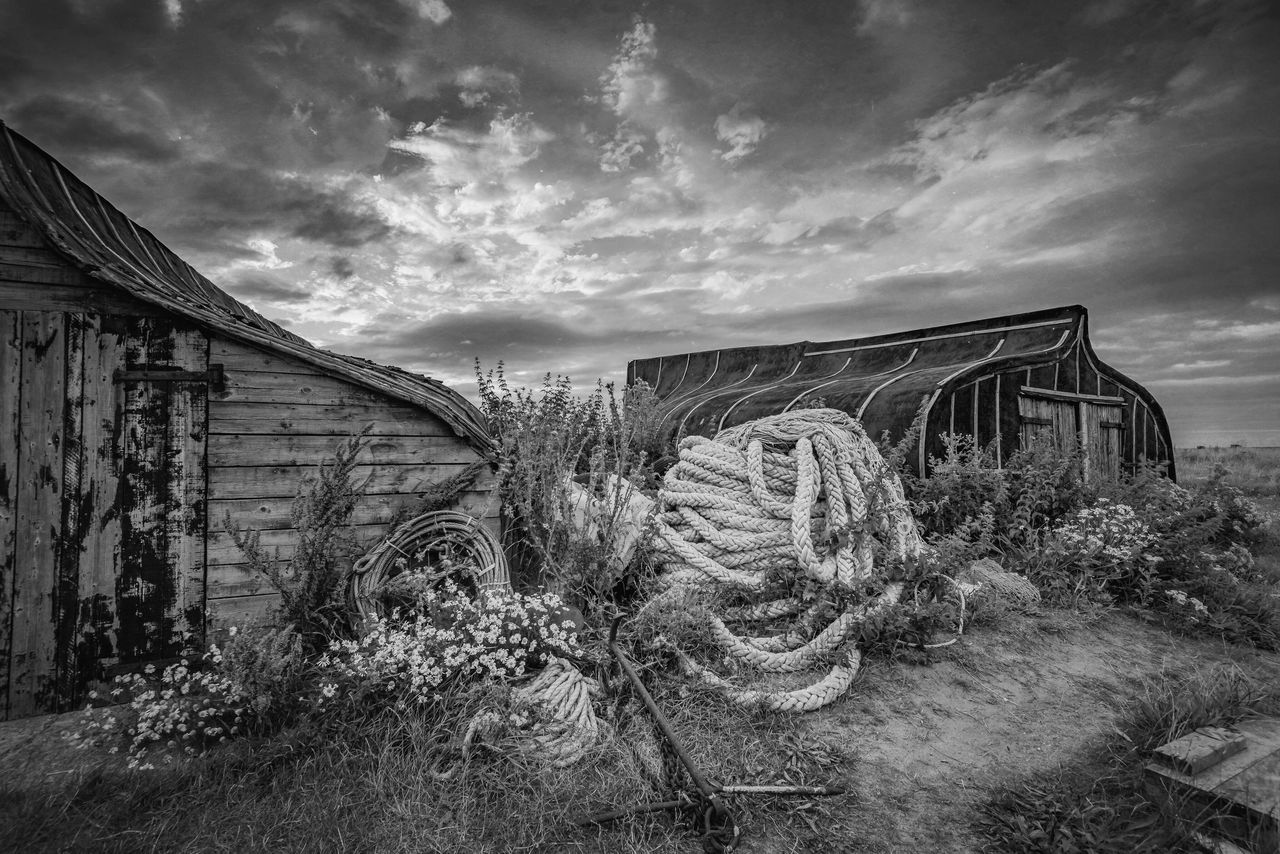 Boat Sheds Sky Cloud - Sky No People Abandoned Outdoors Day Nature Grass The Great Outdoors - 2017 EyeEm Awards The Architect - 2017 EyeEm Awards Northumberland