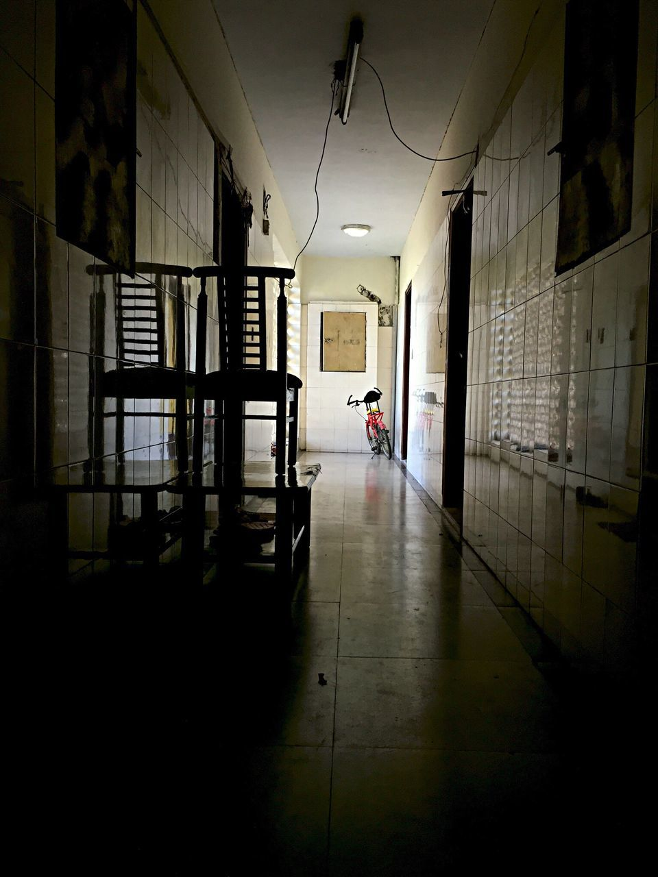 Dark Corridor In Building