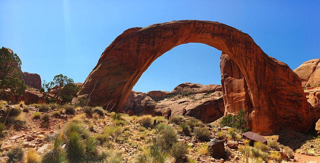 EyeEm Selects Scenics Nature Beauty In Nature Geology Rainbow Bridge National Park Arizona Tranquility Travel Destinations No People Sunlight Sky