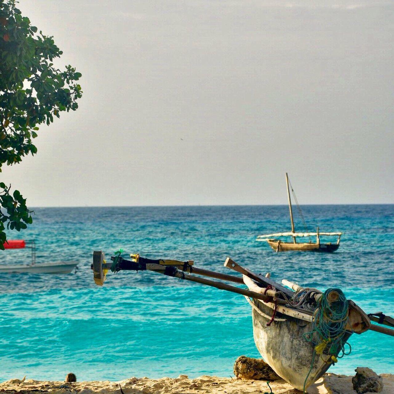 Zanzibar Beach Africa Island Boat