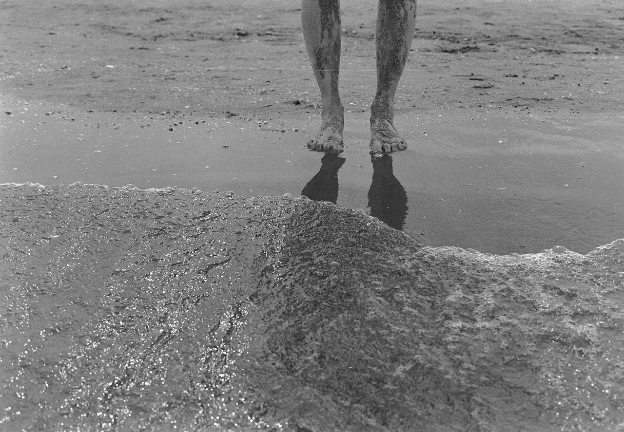 The Island Analog Analogue Photography Baltic Baltic Sea Barefoot Beach Blackandwhite Day Human Body Part Human Leg Leisure Activity Low Section Men Nature One Person Outdoors People People Photography Real People Sand Sea She Shore Water Womanity