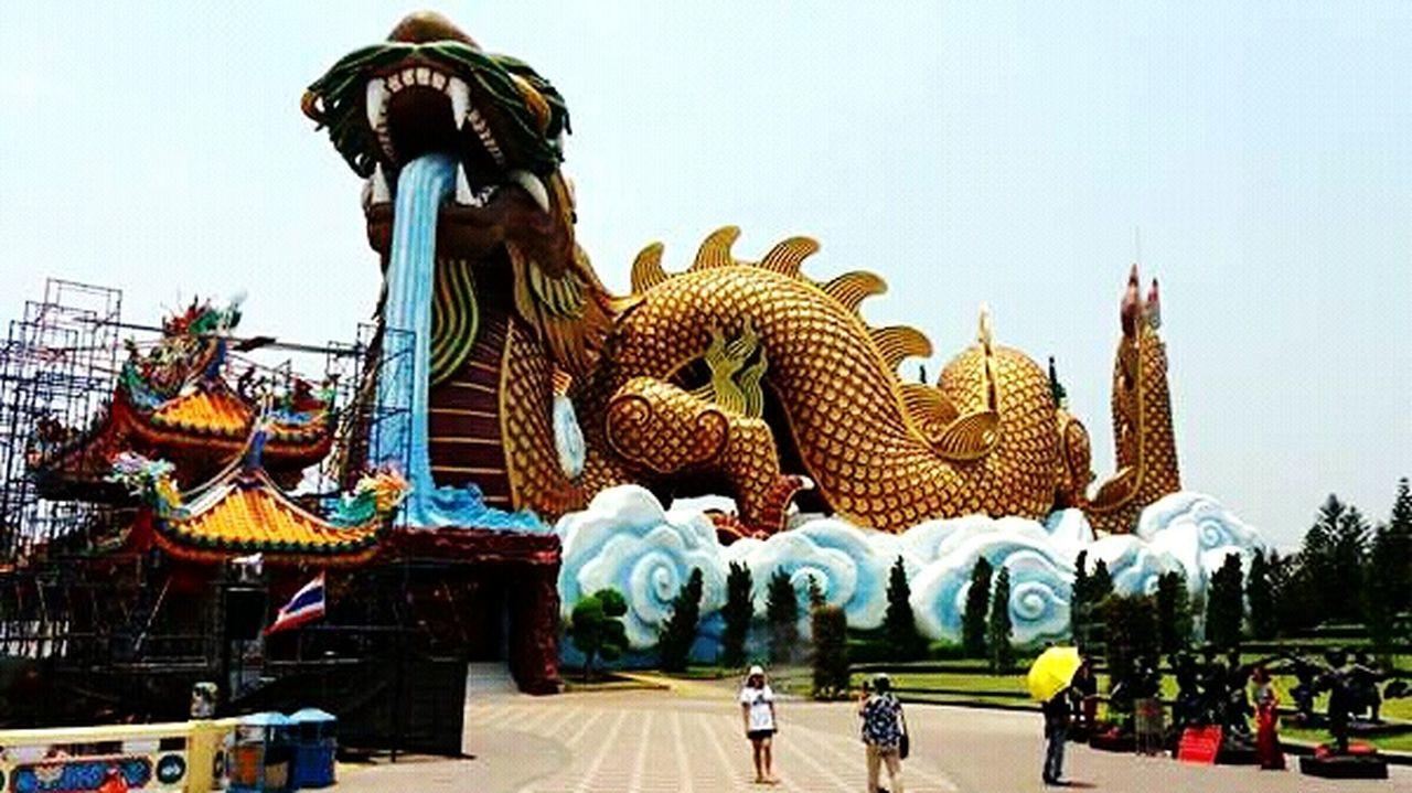 สุพรรณบุรี Temple Thailand Cultures Chinese Dragon Sculpture