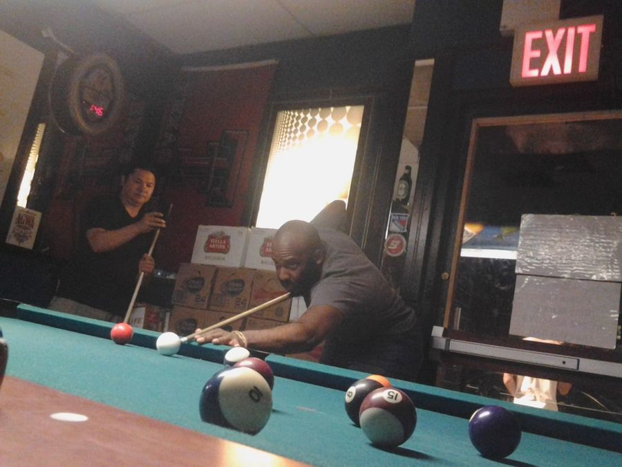 One of the many nights out with with Moses. Indoors  Playing Pool - Cue Sport Pool Ball Pool Cue Pool Table Snooker Sport
