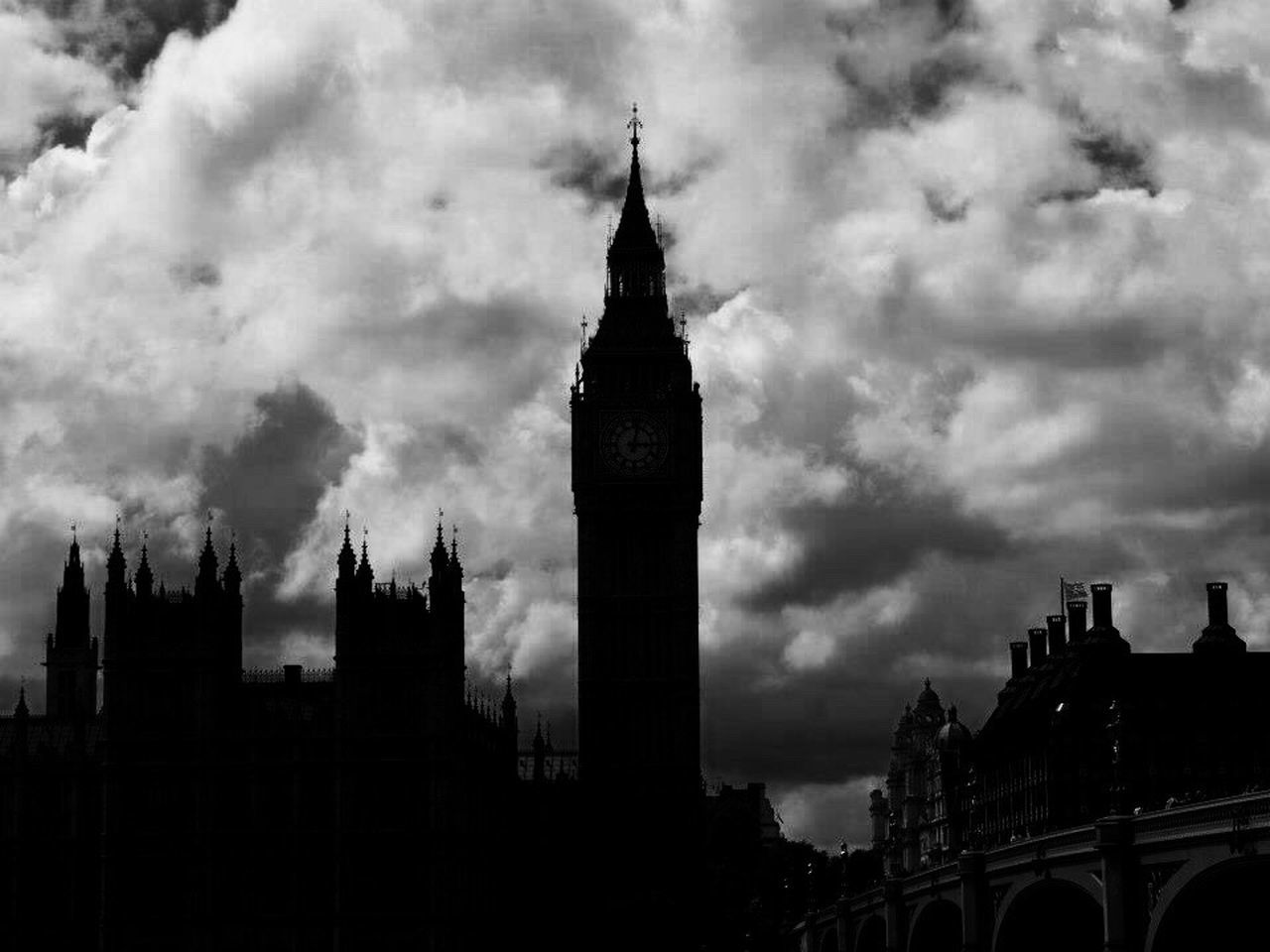 Big Ben Westminster Central London London London Lifestyle LONDON❤ London Eye Travel Travel Destinations Traveling Blackandwhite Black And White Clouds And Sky Portrait Clock Tower Cloud - Sky Sky Architecture Built Structure Building Exterior Clock Tower Outdoors City Cultures