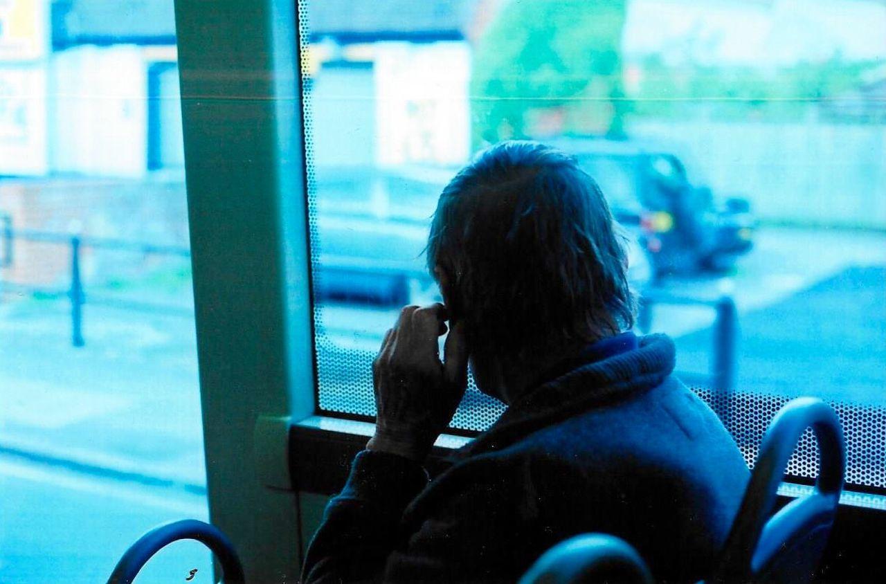Alone Commuting Filmcamera Film Photography 35mm Film Bus Analog Man Analogue Photography Filmisnotdead