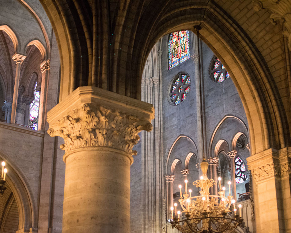 Notre-Dame de Paris Arch Architectural Column Architecture Check This Out Eye For Photography Eye4photography  EyeEm Best Shots EyeEm Gallery EyeEmBestPics Hello World Illuminated Indoors  No People Place Of Worship Religion Spirituality Window