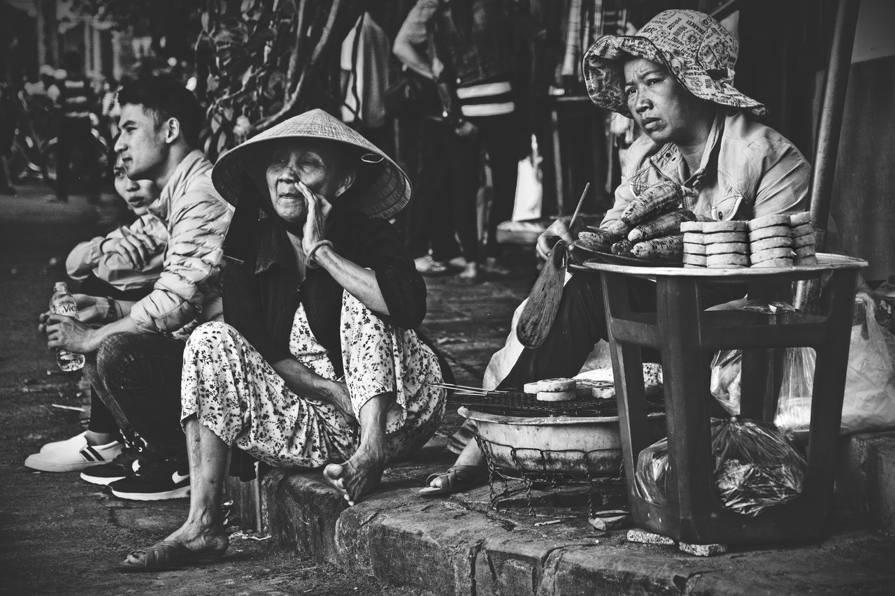 """People Of Asia"" (Observer) Saw this one in the streets of Old Town Hoi An, Vietnam. Since 1999 the Ancient Town of Hoi An is an UNESCO World Heritage Site. It's one of the top spots in Vietnam to visit. ASIA Backpacking Blackandwhite Hoi An Hoi An, Vietnam HỘI AN, VIỆT NAM Outdoors People People Photography Southeast Asia Southeastasia Street Street Photography Streetphoto_bw Streetphotography Travel Travel Photography Traveling Travelphotography Vietnam Vietnamese Wanderlust"